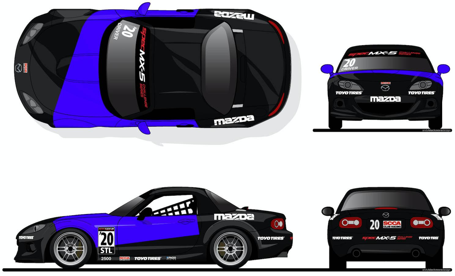 Spec MX5 Challenge Decal Placement - 2020